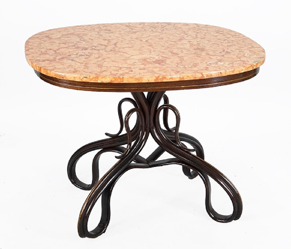 A Thonet Marble Top Occasional Table.