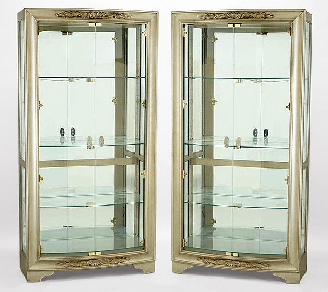 A Pair of Contemporary Two-Door Glass Cabinets.