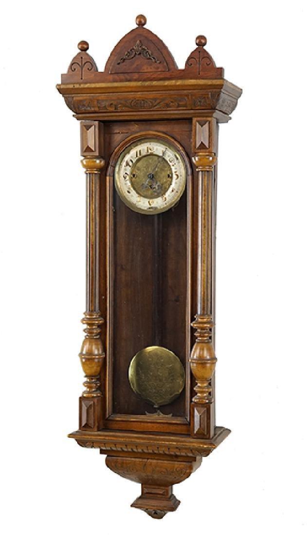 A German Regulator Wall Clock.