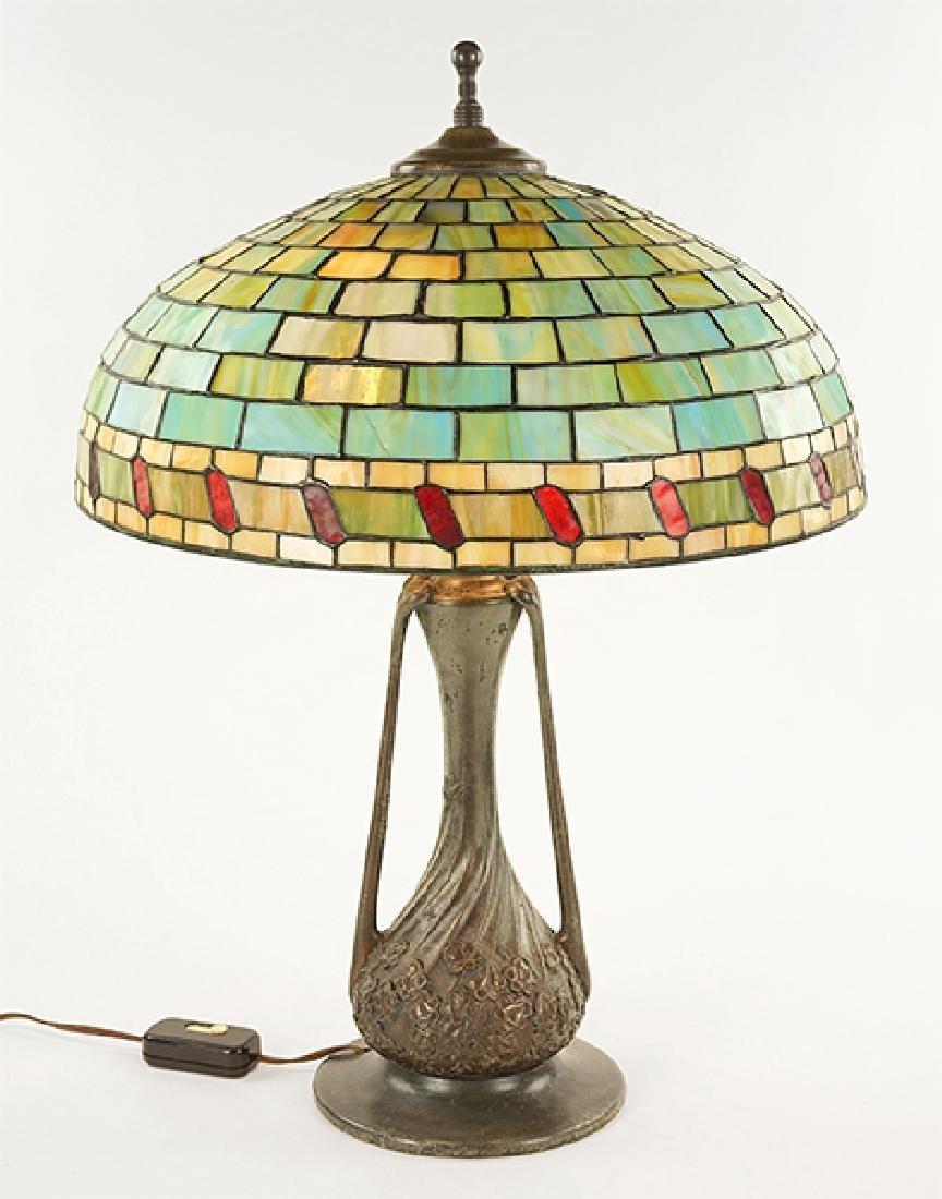 An Art Nouveau Style Table Lamp.