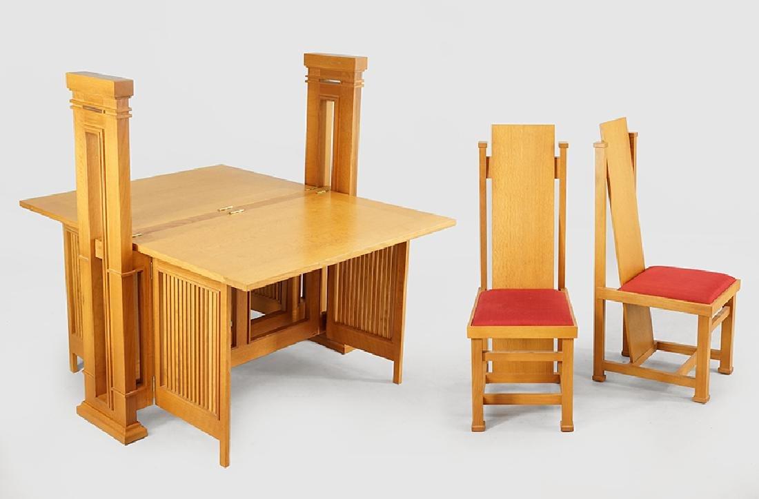 A Heinz & Co. Frank Lloyd Wright Style Print Table.