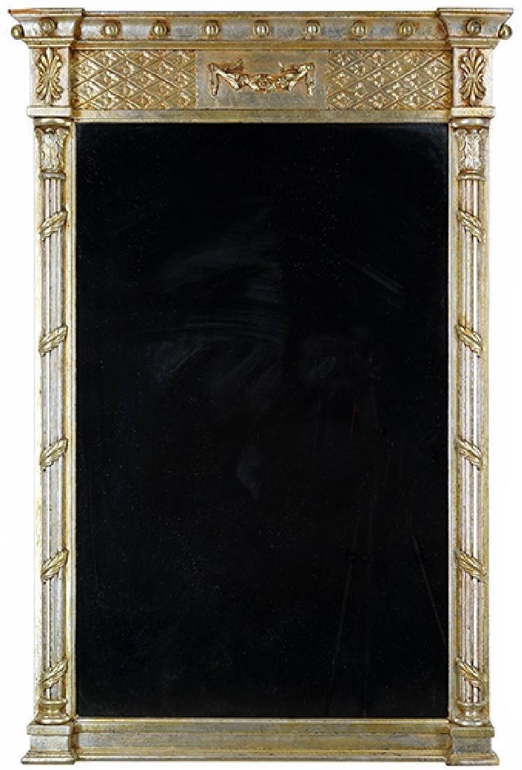 An Italian Silver Gilt Mirror.
