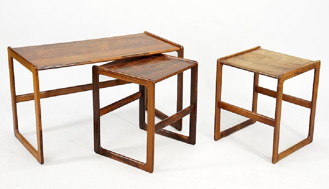 Three Scandinavian Side Tables.