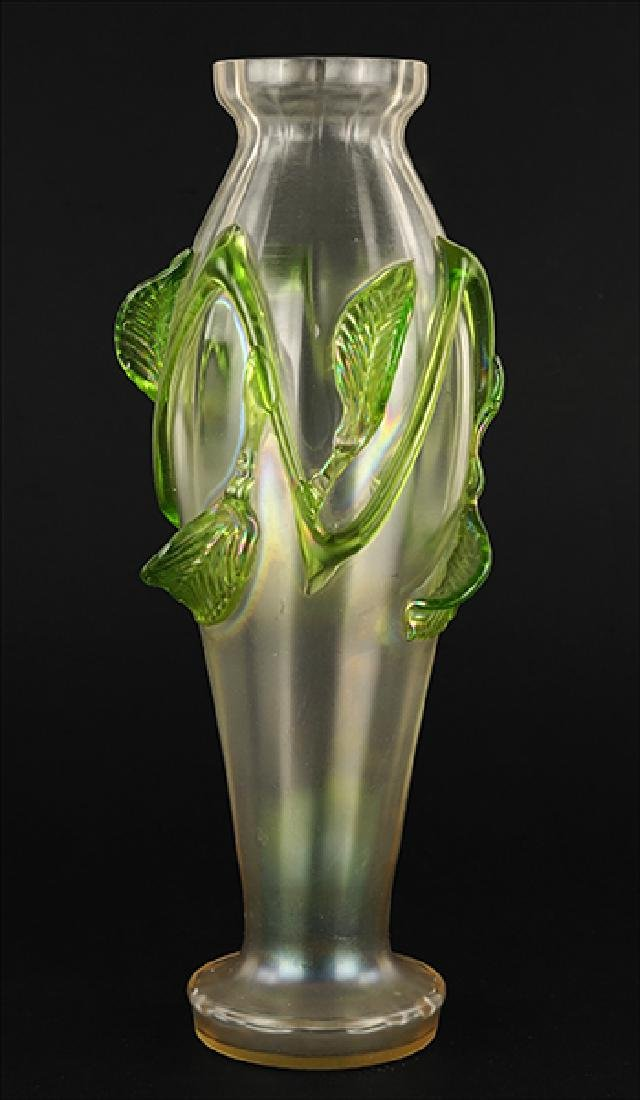 An Art Nouveau Glass Vase.
