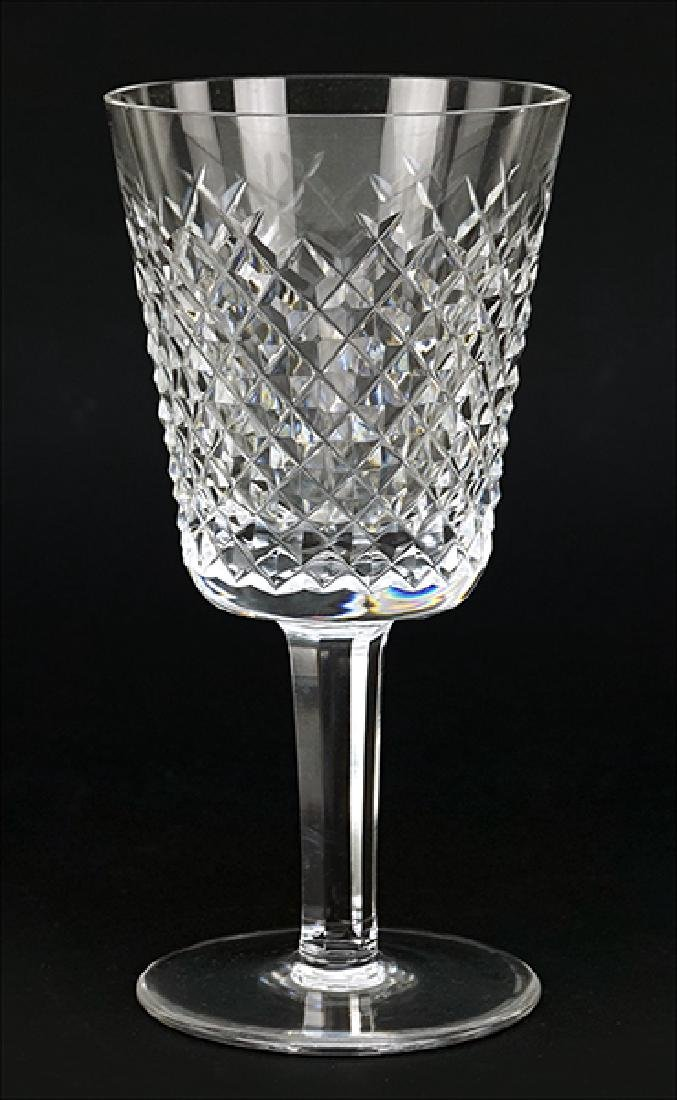 A Set of Twelve Waterford Crystal Water Goblets in the