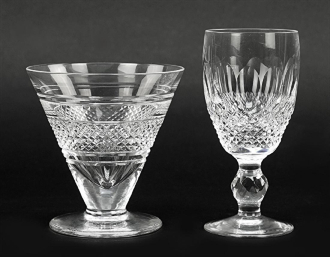 A Set of Twelve Waterford Crystal Martini Glasses.