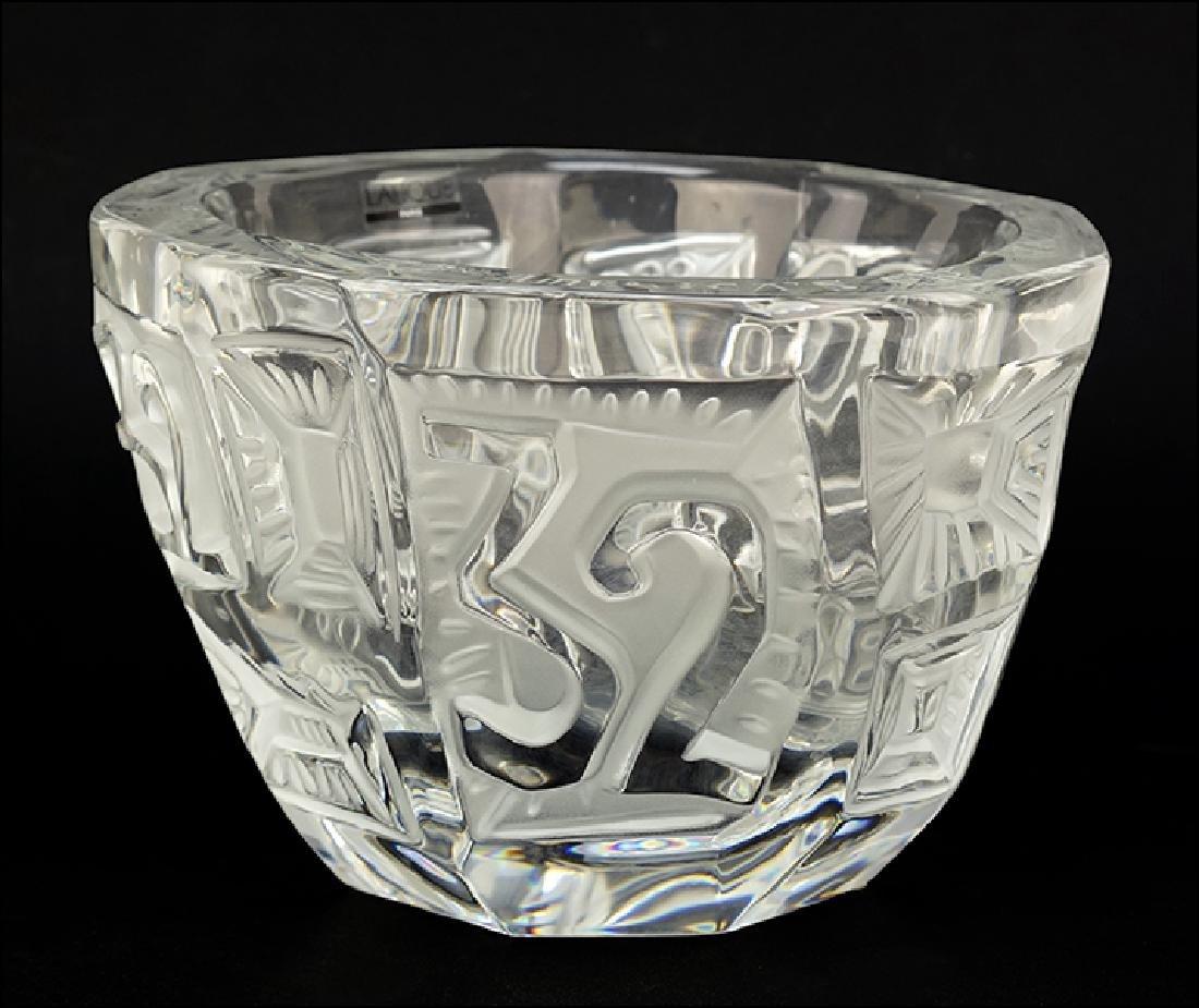 A Lalique America's Cup Bowl.