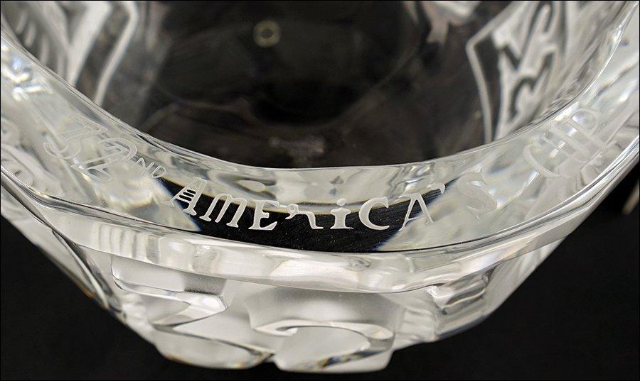 A Lalique America's Cup Bowl. - 2