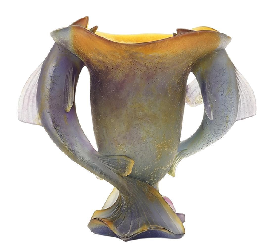 A Daum Pate De Verre Vase.