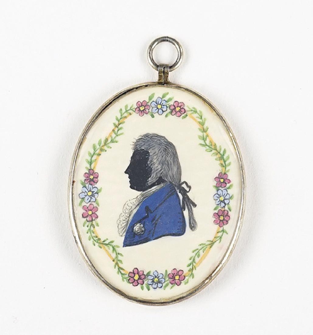 A Double Sided Portrait Miniature.
