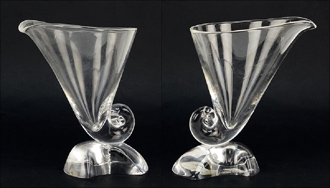 A Pair of Steuben Glass Vases.