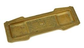 A Tiffany Studios Bronze Pen Tray.