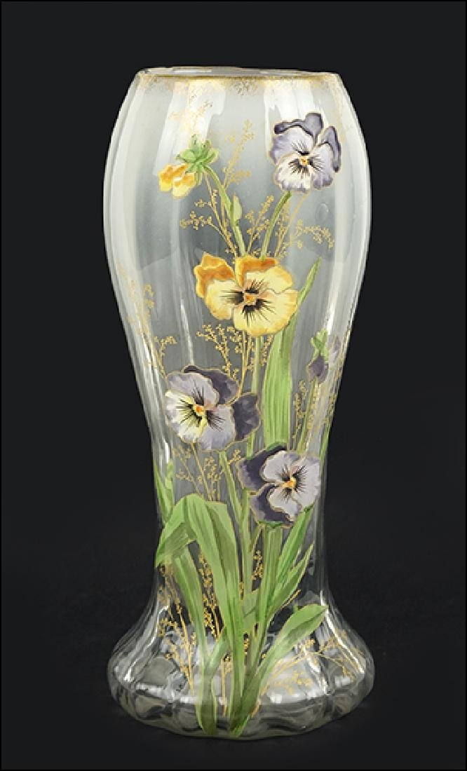A French Mont Joye Vase.