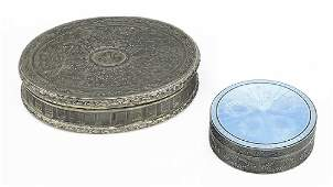 A French Silver Round Box.