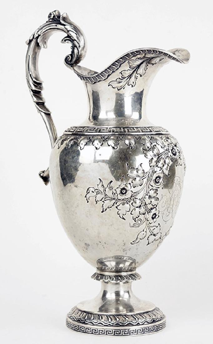 An American Sterling Silver Water Pitcher.