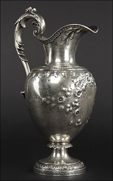 An American Sterling Silver Water Pitcher. - 3