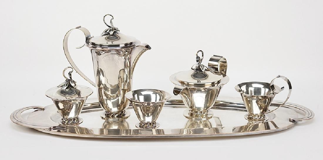 A Royal Hickman Silverplate Tea and Coffee Service.
