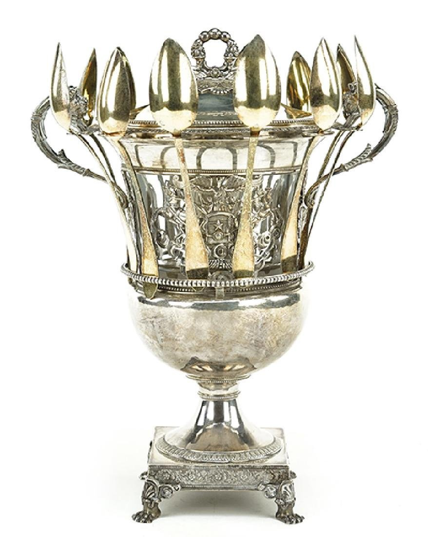A 19th Century French Silver Confiturier.