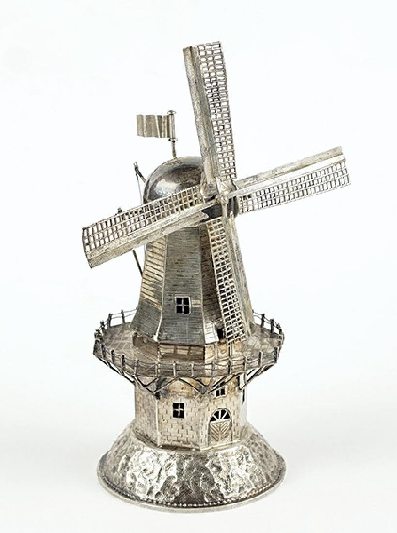 A Dutch Silver Spice Tower.