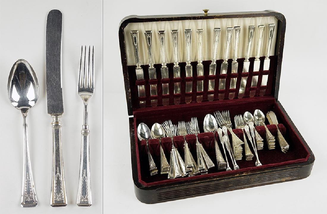 An American Silverplate Flatware Service.