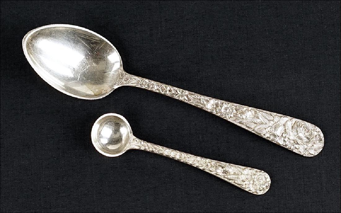 A Set of Ten S. Kirk Sterling Silver Demitasse Spoons.