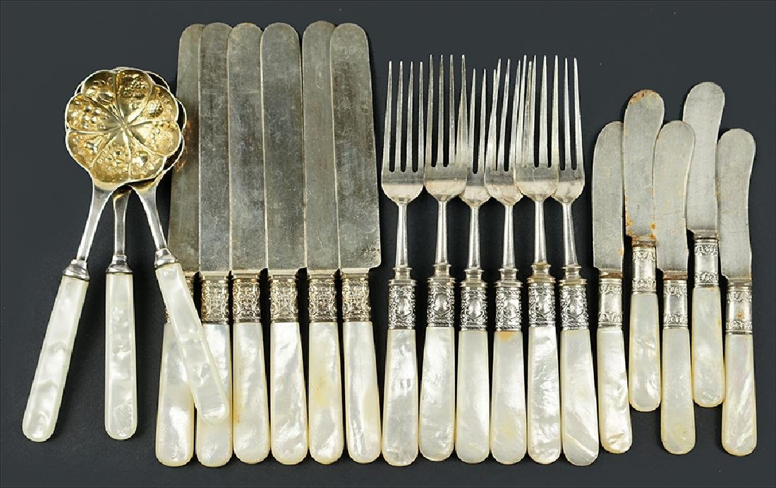 A Collection of Mother-Of-Pearl Flatware.