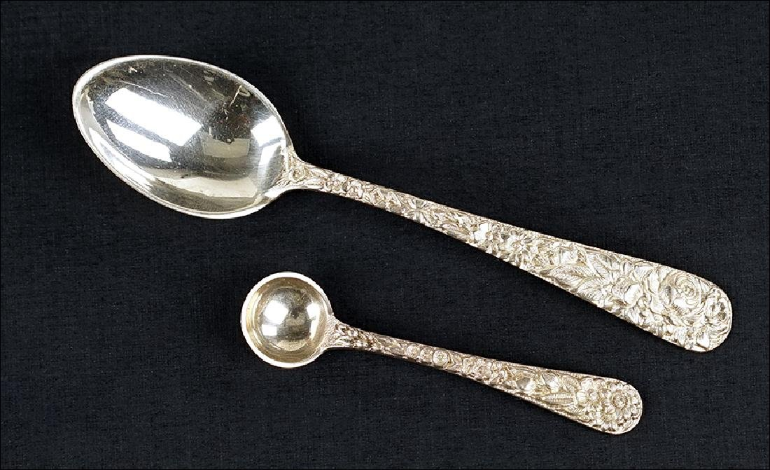 A Set of 17 S. Kirk Sterling Silver Demitasse Spoons.