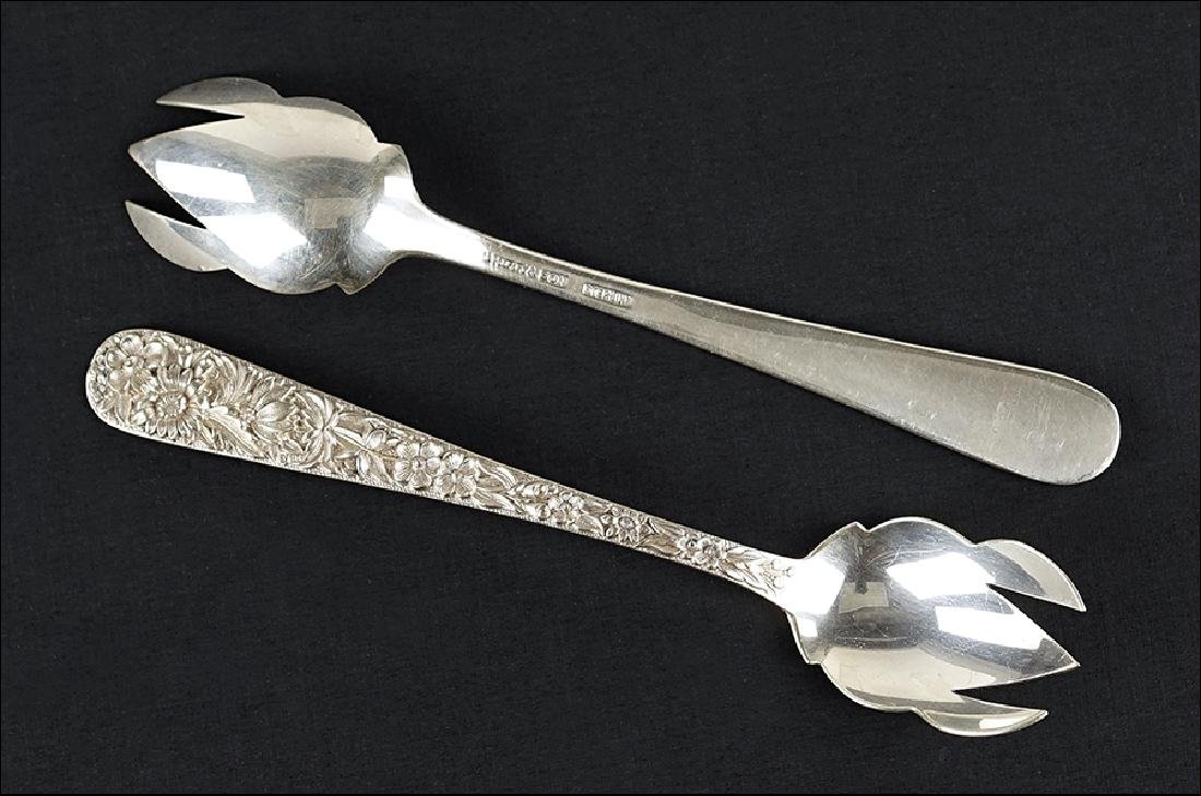 A Set of 19 S. Kirk Sterling Silver Ice Cream Forks.