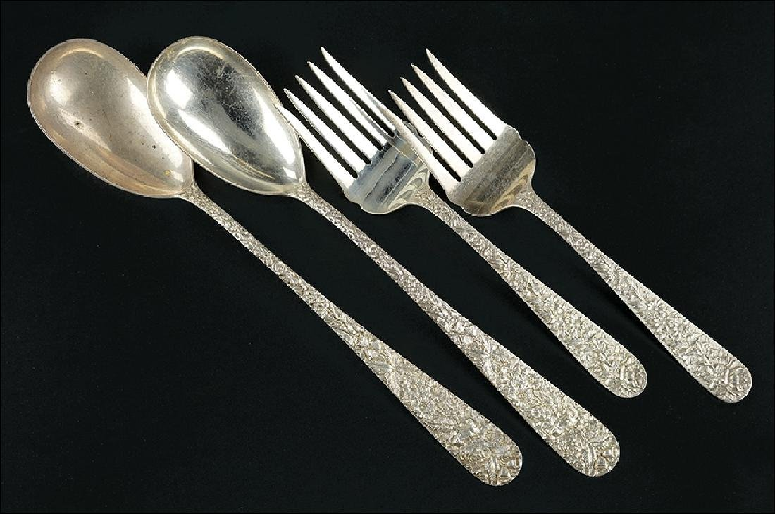 A Collection of S. Kirk Sterling Silver Serving Pieces.