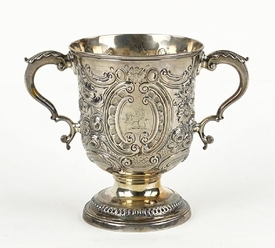 A George III English Silver Loving Cup.