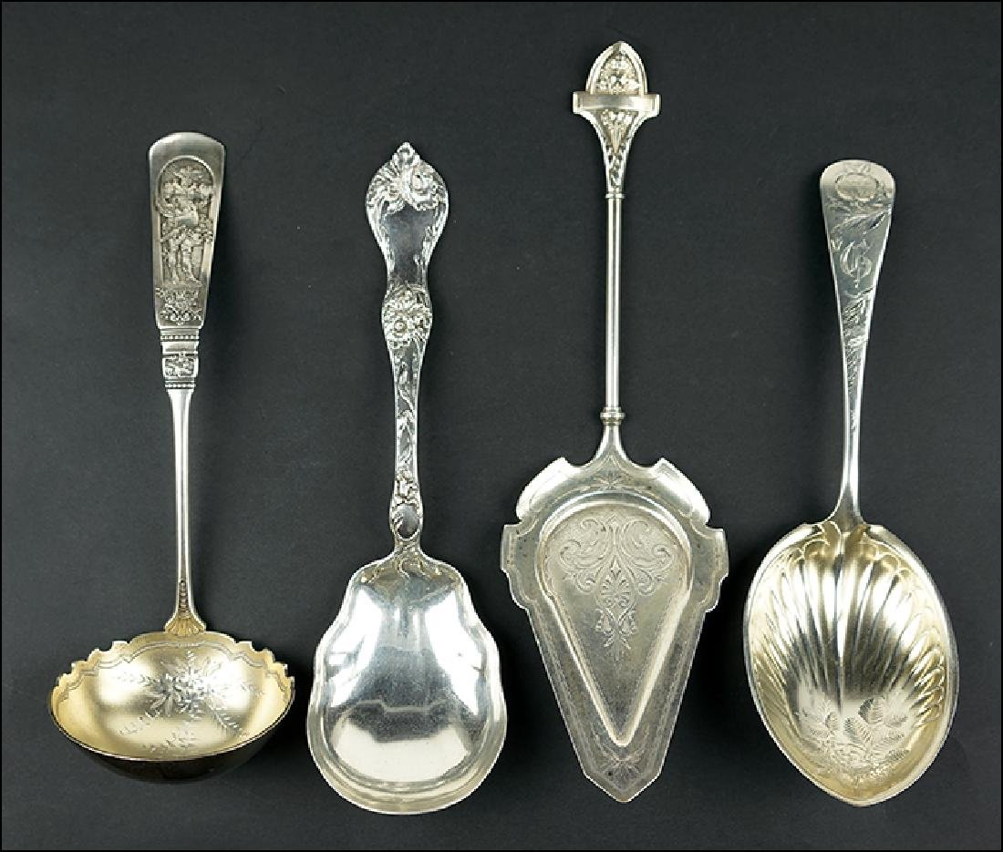 Four Sterling Silver Serving Pieces.