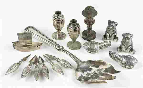 Six Sterling Silver Corn Cob Holders.