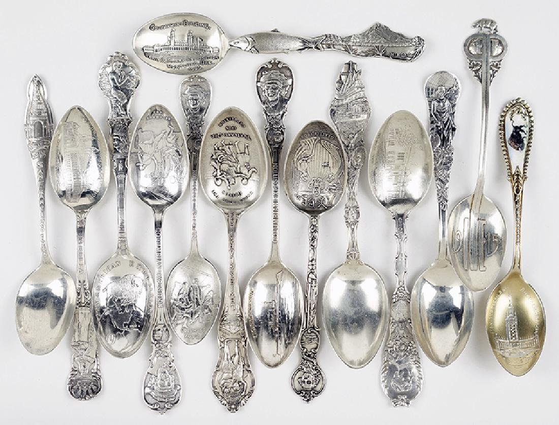 A Collection of Sterling Silver Teaspoons.