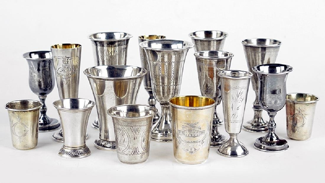 A Collection of Silver Cups.