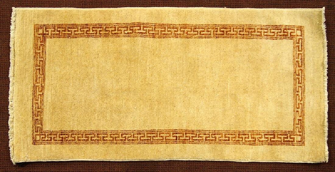 A Pakistani Gabbeh Wool Rug.