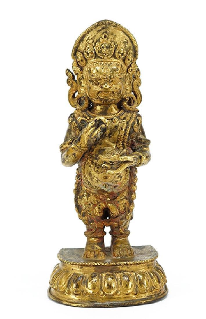 A Sino-Tibetan Gilt Bronze Figure of Bodhisattva