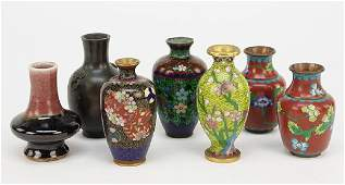 A Pair of Cloisonne Bud Vases