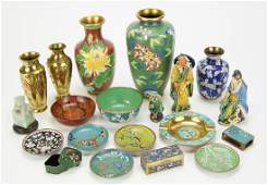 A Collection of Cloisonne Table Articles
