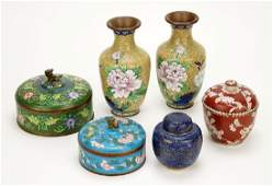 A Collection of Chinese Cloisonne Items