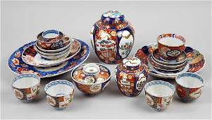 A Collection of Imari Porcelain Table Articles.