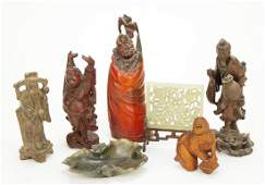 A Collection of Chinese Carved Wood Figures.