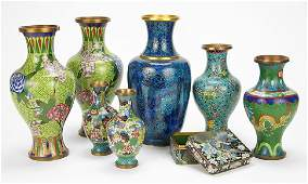 Two Pairs of Cloisonne Vases