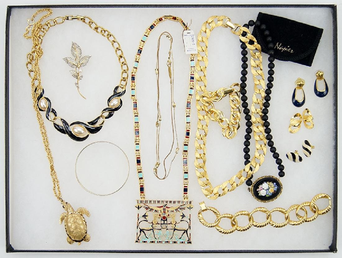 A Collection of Signed Costume Jewelry.