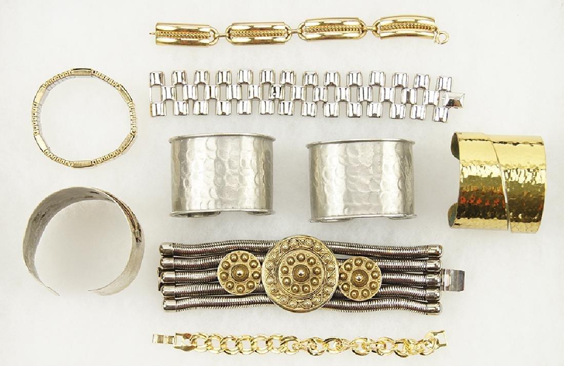 A Pair of Pauline Trigere Cuff Bracelets.