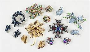 A Collection of Rhinestone Demi-Parures.
