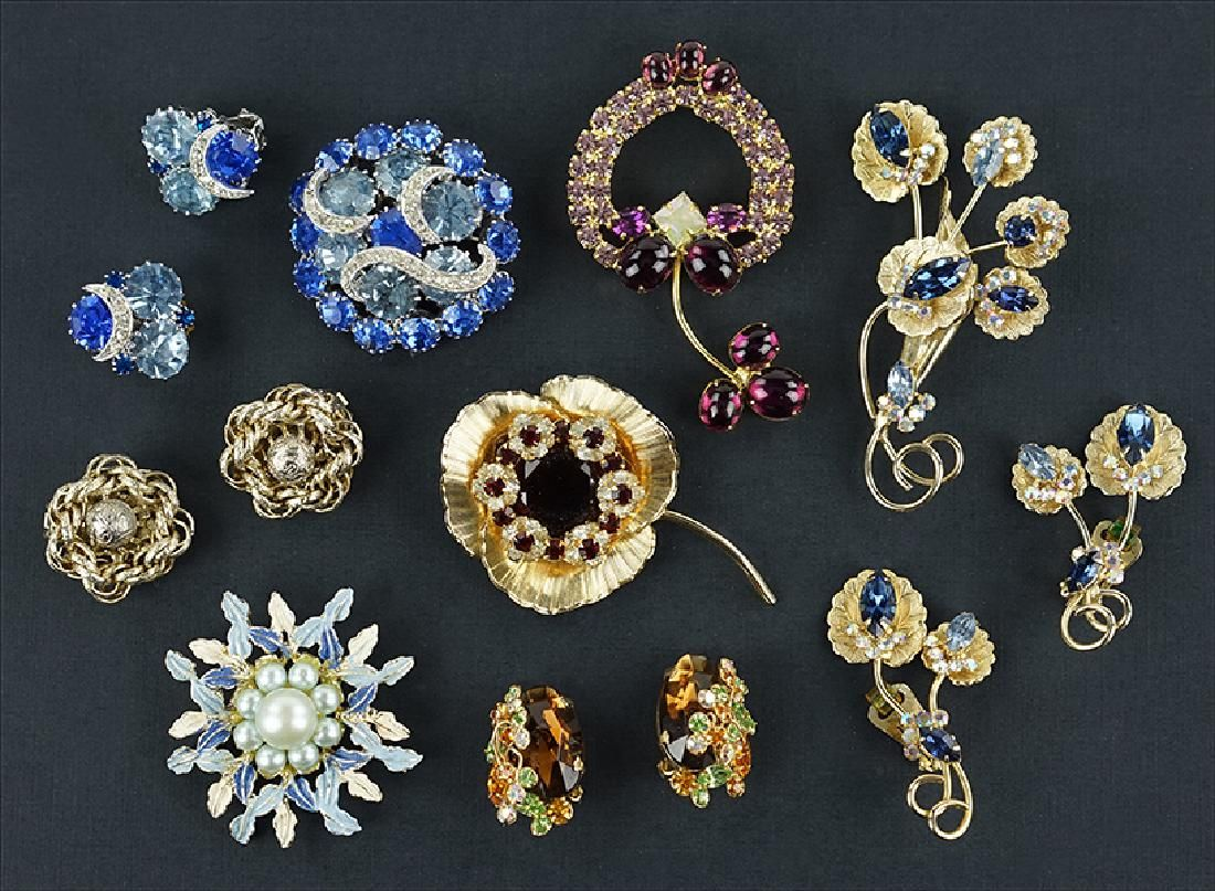 A Collection of Hobe Jewelry.
