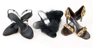 Three Pairs of Designer Stiletto Heels