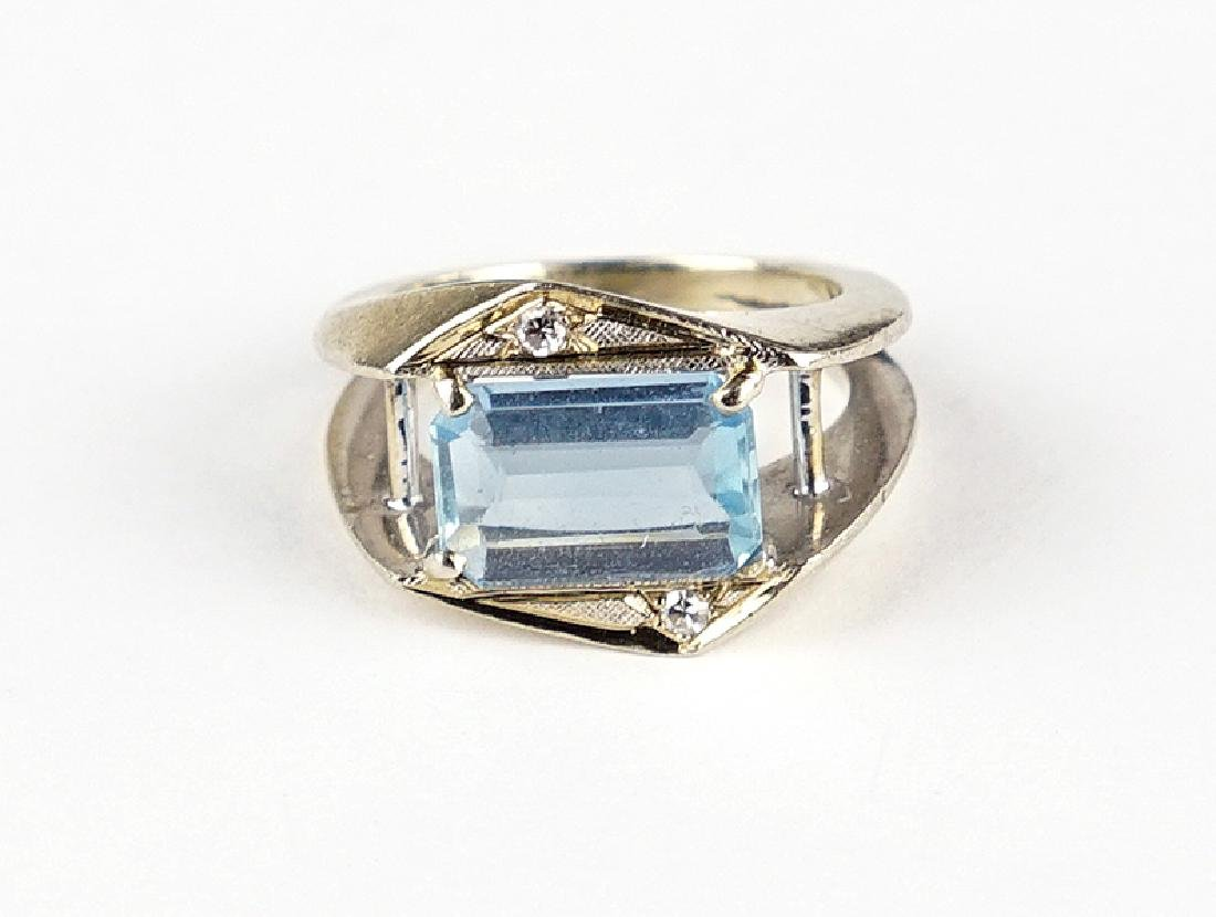 An Aquamarine Ring.