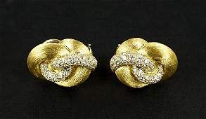 A Pair of Henry Dunay Diamond Earclips.