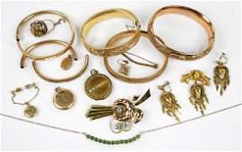 Four Victorian Goldfilled Bangle BRacelets.